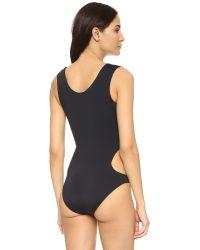 Moschino One Piece Swimsuit - Black/yellow