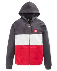 LRG - Gray Big And Tall Colorblocked Full-Zip Hoodie for Men - Lyst