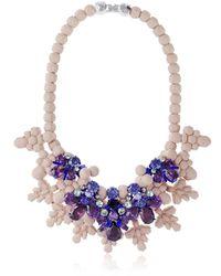 EK Thongprasert Purple Giverny Garden Necklace