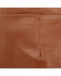 River Island - Brown Leather-look Mock Croc A-line Skirt - Lyst