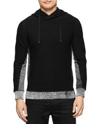 Calvin Klein Jeans | Black Colorblocked Hooded Sweater for Men | Lyst