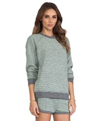 T By Alexander Wang | Green Rainbow French Terry Sweatshirt in Gray | Lyst