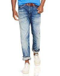 Ralph Lauren Blue Polo Sullivan Slim-fit Bristol-wash Stretch Jeans for men