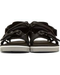 MSGM - Black Nylon Double_strap Sandals for Men - Lyst