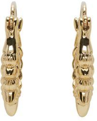 Pamela Love | Metallic Gold Spike Hoop Earrings | Lyst