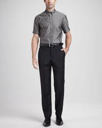 Alexander McQueen Black Wool-mohair Dress Pants for men