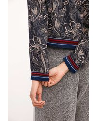 30a866f9d Women's Iris Floral Bomber Jacket