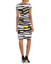 Ellen Tracy - Multicolor Printed Jersey Twist Dress - Lyst