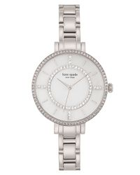 kate spade new york | Metallic 'gramercy' Crystal Bezel Bracelet Watch | Lyst