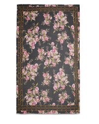 Dolce & Gabbana | Multicolor Floral-Print Rope Border Scarf | Lyst