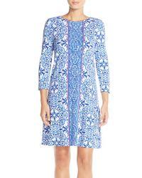 Lilly Pulitzer - Blue 'ophelia' Print Trapeze Dress - Lyst