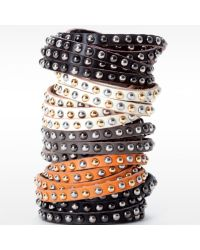 Linea Pelle | Multicolor Double Wrap Mixed Stud Bracelet | Lyst