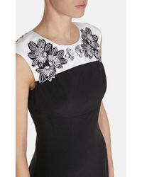 Karen Millen Black Flower Embroidery Dress