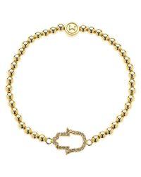 Melissa Odabash - Metallic Gold Plated Hand Of Hamsa Ball Bracelet - Lyst