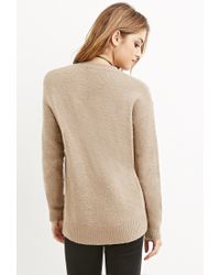 Forever 21 - Brown Classic Fuzzy Sweater - Lyst