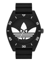 Adidas Originals - Black 'santiago Xl' Silicone Strap Watch for Men - Lyst