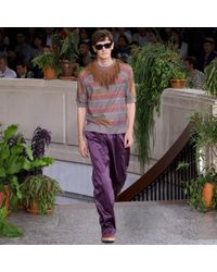 Paul Smith Black Muted Rainbow Stripe Cotton-Blend T-Shirt for men