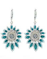 Stephen Dweck   Blue Silver Citrine And Turquoise Metropolis Earrings   Lyst