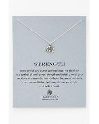 Dogeared Metallic 'reminder - Strength' Pendant Necklace