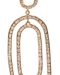 Ileana Makri - Pink White Diamond & Gold Double Hoop Earrings - Lyst