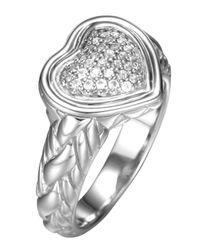 John Hardy - Metallic Diamond Pave Heart Ring - Lyst