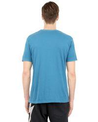 Lightning Bolt Blue Rainbow Cotton Jersey for men