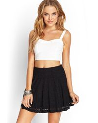 Forever 21 - Black Floral Lace Twirly Skirt - Lyst
