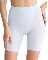 Spanx | Blue Thinstincts Mid-thighshorts | Lyst