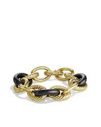 David Yurman - Metallic Oval Extra-large Link Bracelet In 18k Gold - Lyst