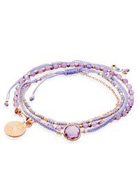 Astley Clarke Purple Amethyst Friendship Bracelet With Labyrinth