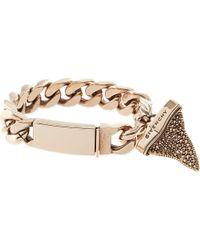 Givenchy Pink Rose Golden Pave Crystal Shark Tooth Bracelet