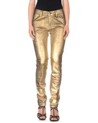 J Brand - Metallic Denim Trousers - Lyst
