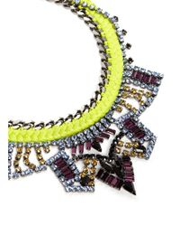 Joomi Lim - Yellow 'Rebel Romance' Cotton Braid Crystal Necklace - Lyst
