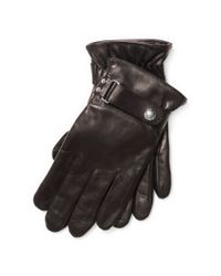 Polo Ralph Lauren | Brown Nappa Touch Screen Gloves | Lyst