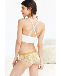 Urban Outfitters | Yellow Contrast Band Print Hipster | Lyst
