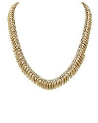 House of Harlow 1960 | Metallic Pyramid Fringe Bar Necklace - Gold | Lyst