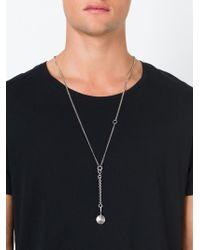 Ann Demeulemeester - Metallic Metal Disc Pendant Necklace for Men - Lyst