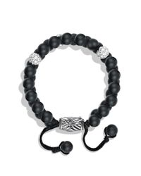 David Yurman | Spiritual Beads Tworow Bracelet with Black Onyx and Diamonds for Men | Lyst