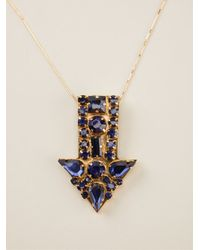 Stella McCartney | Blue Arrow Necklace | Lyst
