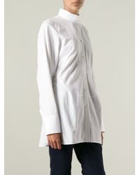 Jil Sander White Mandarin Shirt