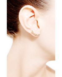 Janis Savitt | Metallic Multi Triangle Diamond Earrings | Lyst
