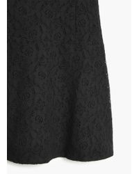 Mango - Black Guipure Cotton Dress - Lyst