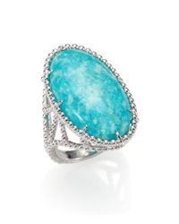 Judith Ripka Blue Marrakech Amazonite Sterling Silver Ring