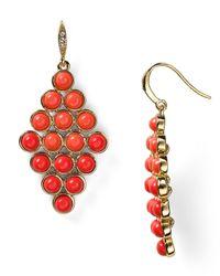 Carolee - Red Croquet Chandelier Earrings - Lyst