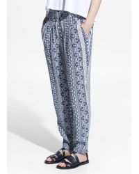 Mango Blue Mosaic Baggy Trousers