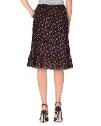Twin Set - Black Knee Length Skirt - Lyst