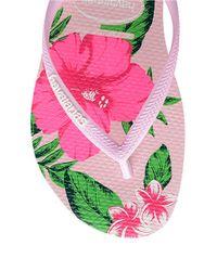 Havaianas | Pink Floral Flip Flops | Lyst