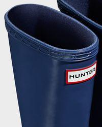HUNTER   Blue Kids' First Gloss Rain Boots   Lyst