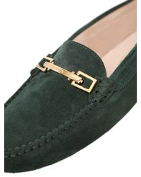 Tod's - Green Gommino Hook Nubuck Driving Shoes - Lyst