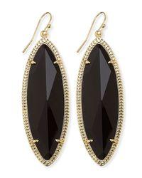 Kendra Scott | Jessa Marquise Earrings Black | Lyst